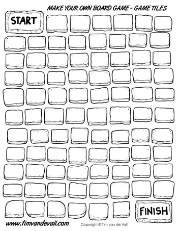 Blank Board Game Template Printables Make Your Own Board Game - PDF