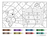 Color by Numbers #1 - Tim's Printables