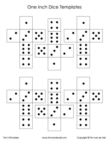 Printable Paper Dice Template Pdf Make Your Own 6, 10  12 Sided Dice