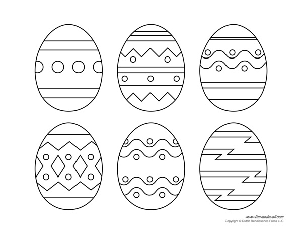 free easter egg templates - Towerssconstruction