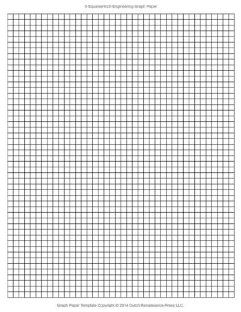 Engineering Graph Paper Template, 85x11 Letter, Printable PDF