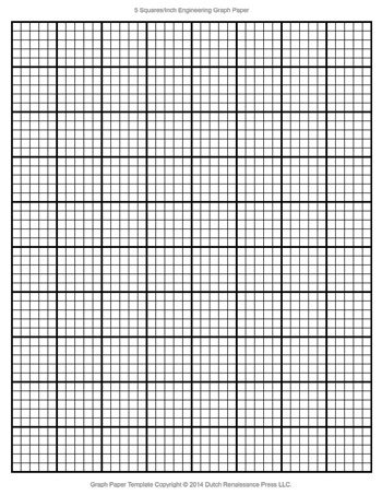 Engineering Graph Paper Template, 85x11 Letter, Printable PDF - Graph Paper Template