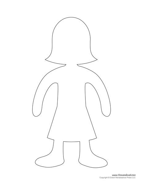 Female Paper Doll Template - Tim\u0027s Printables - paper doll template