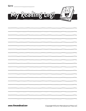 Free Printable Reading Log Templates, Record Your Reading