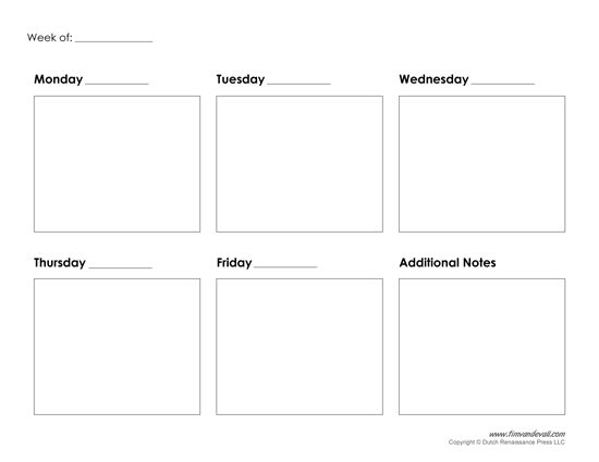 Free Calendar Template Monday Friday – 3 Week Calendar Template