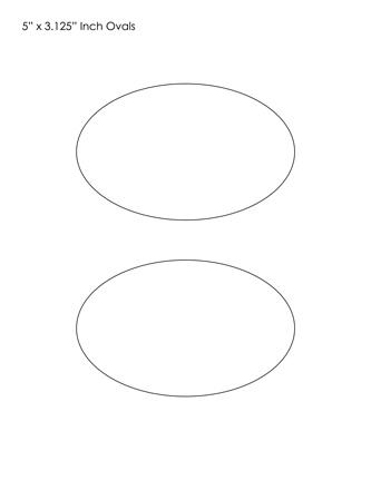 Oval Templates Blank Shape Templates Free Printable PDF