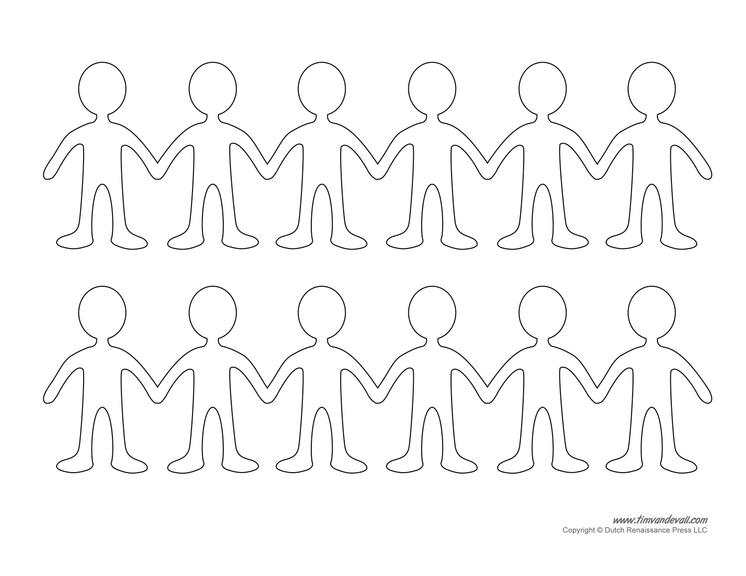 paper doll chain template template for paper dolls sample customer service resume on create my own template in powerpoint
