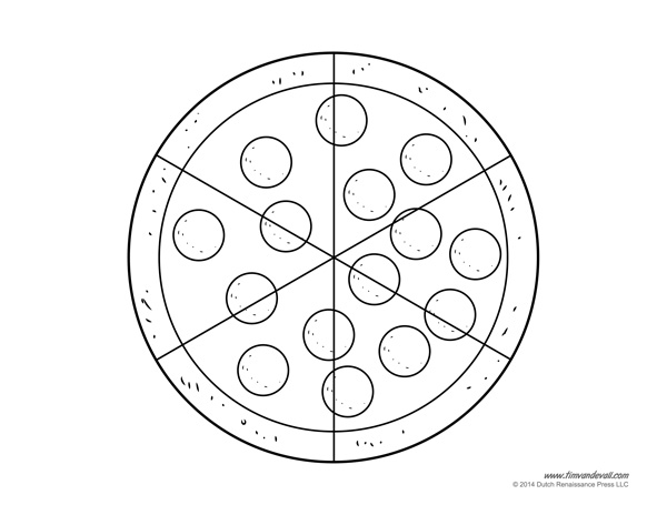 Pizza Coloring Pages Tim39s Printables
