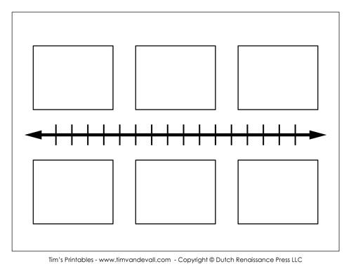Blank Timeline Template - Tim\u0027s Printables