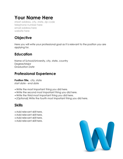Free Resume Templates for Word and Pages and Sample Resume PDF - free resume templates pdf