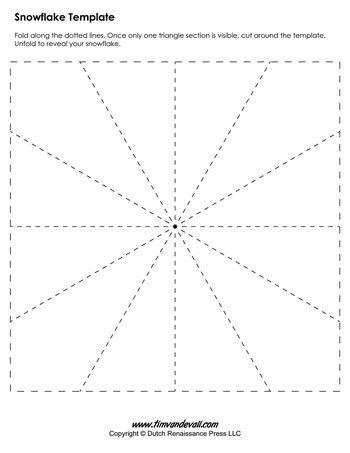 Blank Snowflake Template - Tim\u0027s Printables - snowflake template