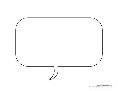 Free Printable Speech Bubble Templates - PDF Format