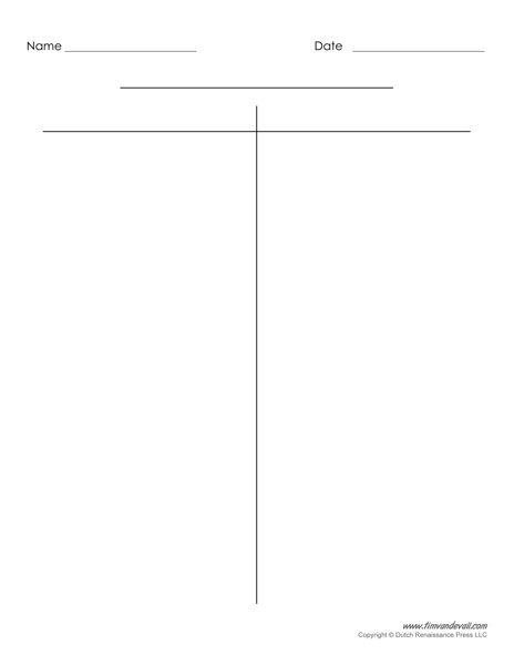 Blank T-Chart Templates Printable Compare and Contrast Chart PDFs - printable t chart