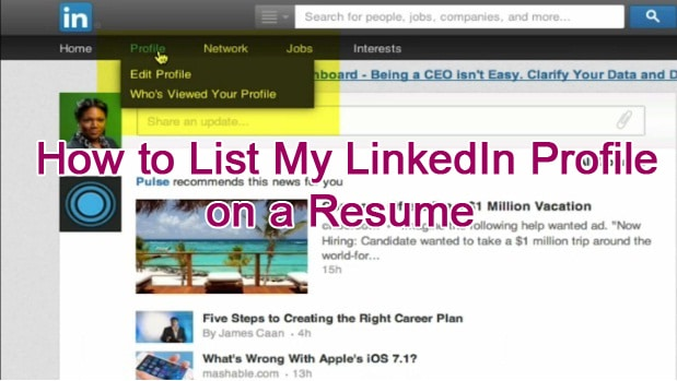 How to List My LinkedIn Profile on a Resume Tina Brinkley Potts - linked in on resume