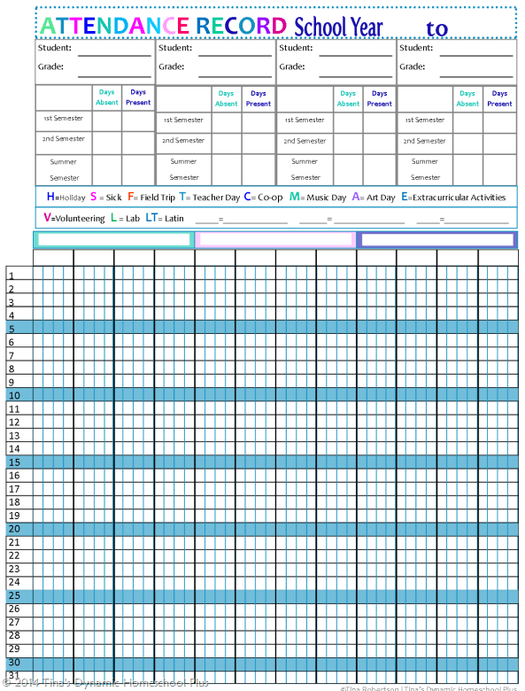 Blank Calendar Grade 1 Pebblebrook High School Home Page Updated Homeschool Attendance Forms