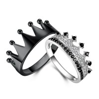 Tinnivi 925 Sterling Silver Princess Crown Rings For ...