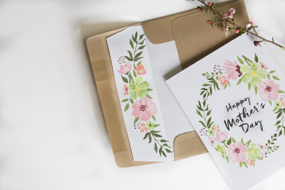 Free Printable Mother\u0027s Day Cards with Envelope Inlay