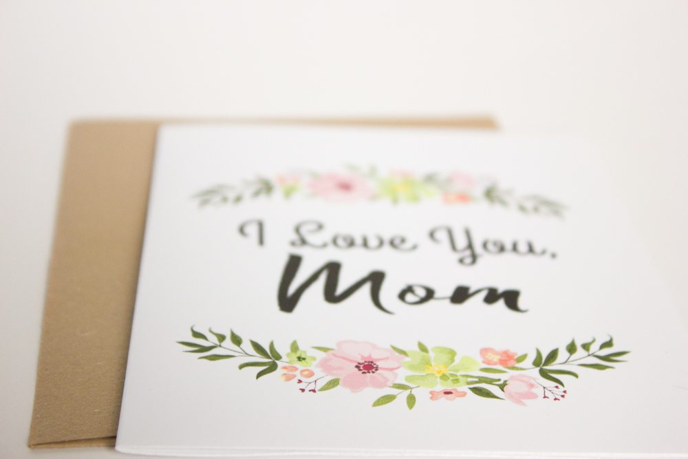 Free Printable Mother\u0027s Day Cards with Envelope Inlay - mother s day cards