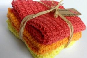 Tin Teddy Crochet Washcloths