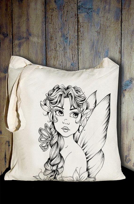 Fairy Tote Bag by ArteRo