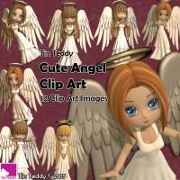 Tin Teddy Cute Angels Clip Art