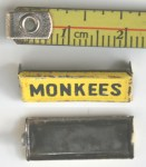 Aoshin ASC Monkee mobile license plate original tin toy part