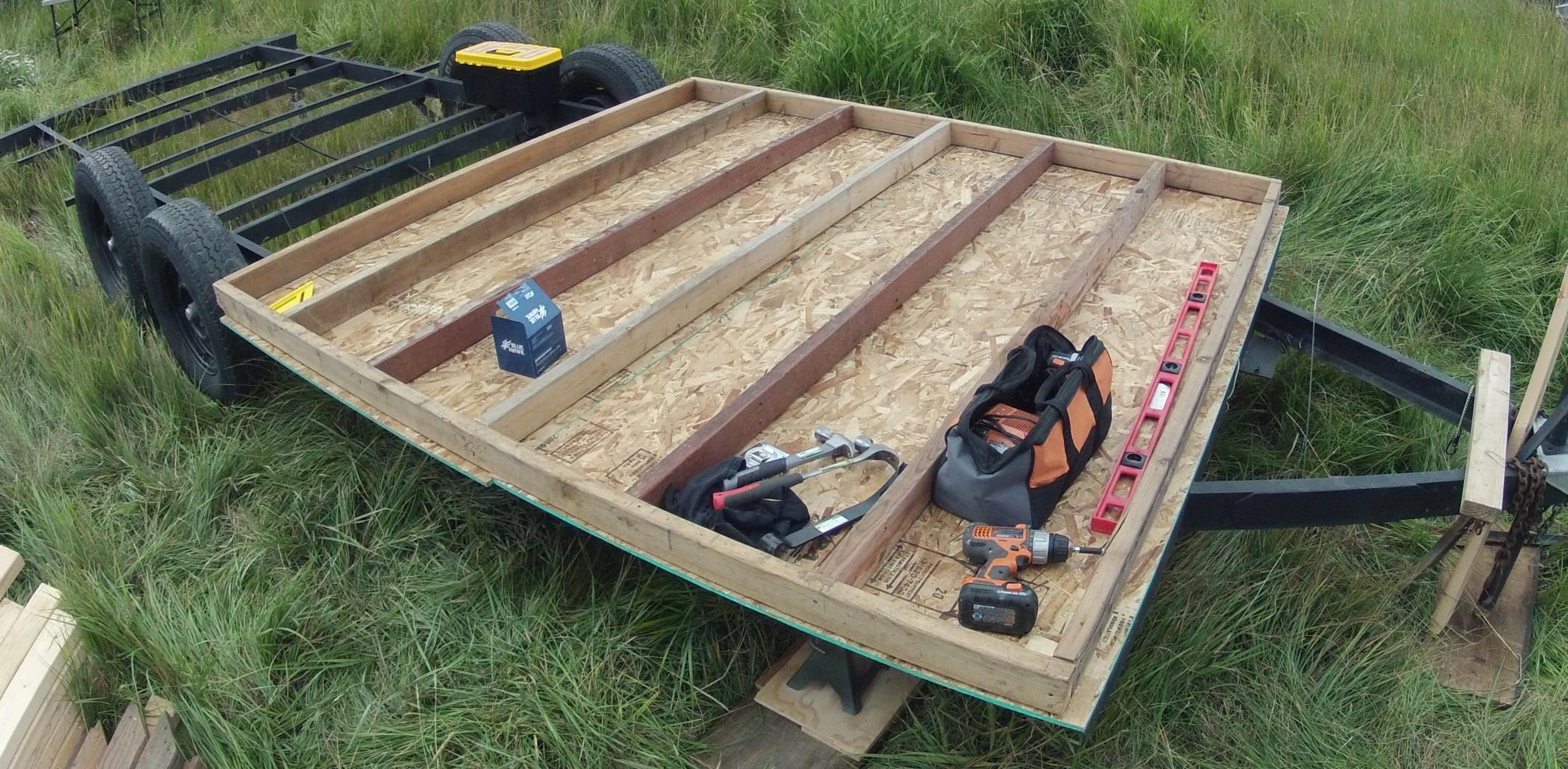 Building my tiny house subfloor