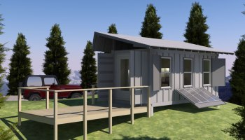 shipping container based remote cabin design - Secure Home Design