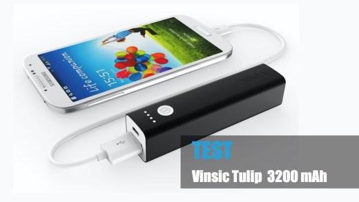 Test – Batterie externe Vinsic Tulip 3200 mAh à 9.90€
