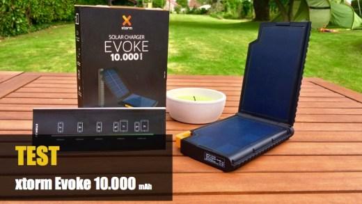 TEST – XTORM Evoke Solar 10000 mAh- Une batterie nomade d'exception