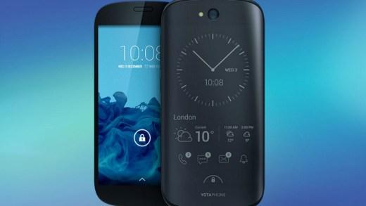 YOTAPHONE 2 – Le smartphone double écran E-Ink