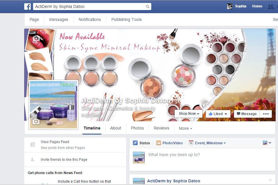 Facebook Business page set up for ActiDerm Ambassador