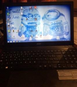Laptop after screen repair