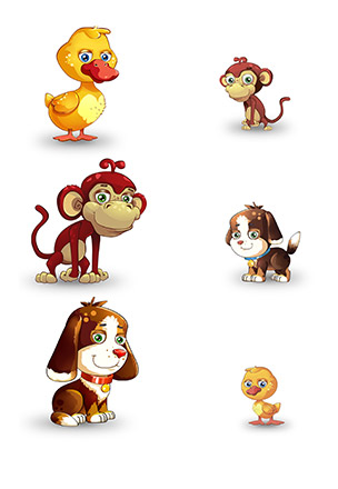 Animals And Their Babies Matching Worksheets TinyU Games - Fun and