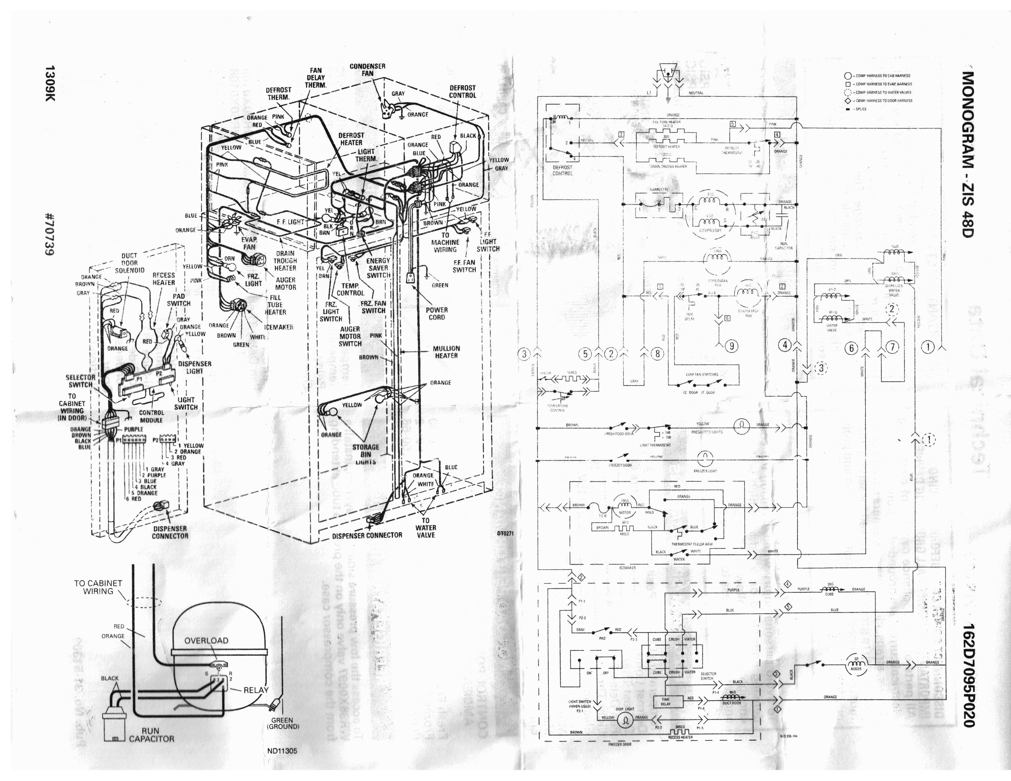 ge profile dryer schematic
