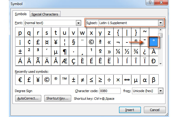 Best Methods to Make A Degree Symbol to Different Operation Systems