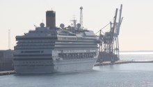 Costa Serena Cruise Ship docked in Bareclona Spain