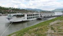 Uniworld River Beatrice docked in Melk Austria