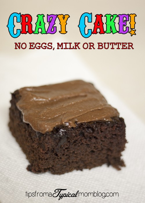 Crazy cake no eggs butter or milk for Cake recipe without butter