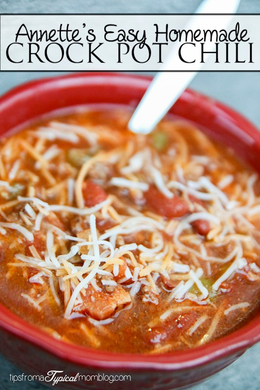 Annette's Easy Crock Pot Chili