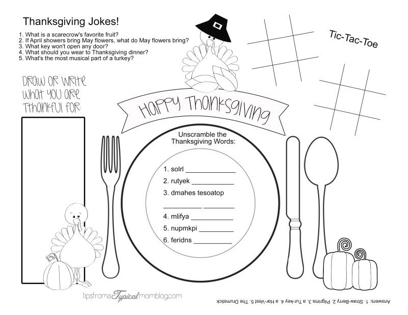 5 Games and Activities to Keep the Kids Busy on Thanksgiving - Tips