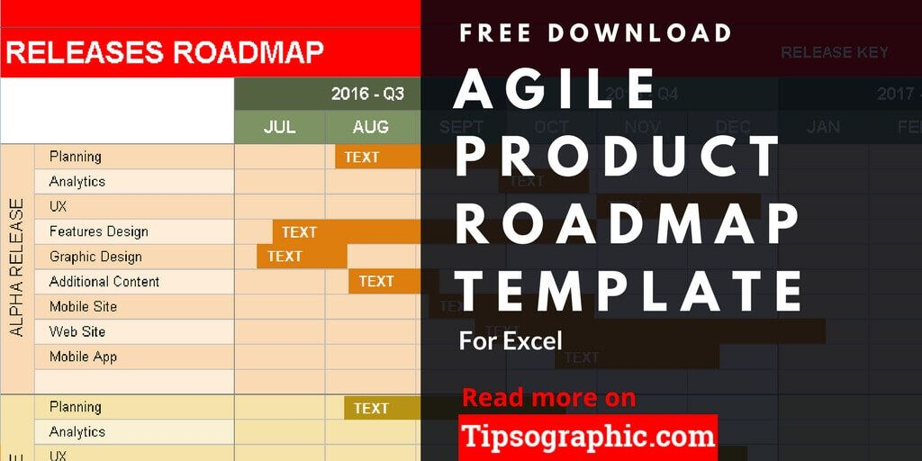 Agile Product Roadmap Template for Excel, Free Download Tipsographic