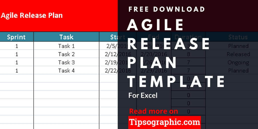 Agile Release Plan Template for Excel, Free Download Tipsographic