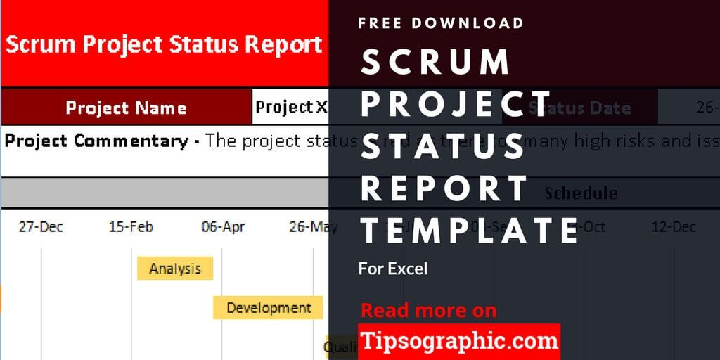 Scrum Project Status Report Template for Excel, Free Download - project status report excel