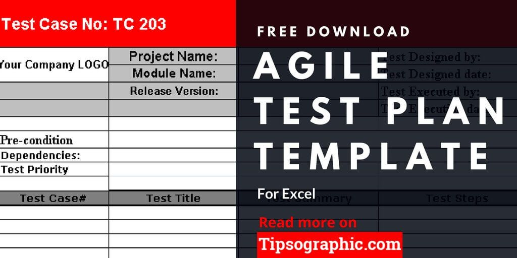 Agile Test Plan Template for Excel, Free Download Tipsographic