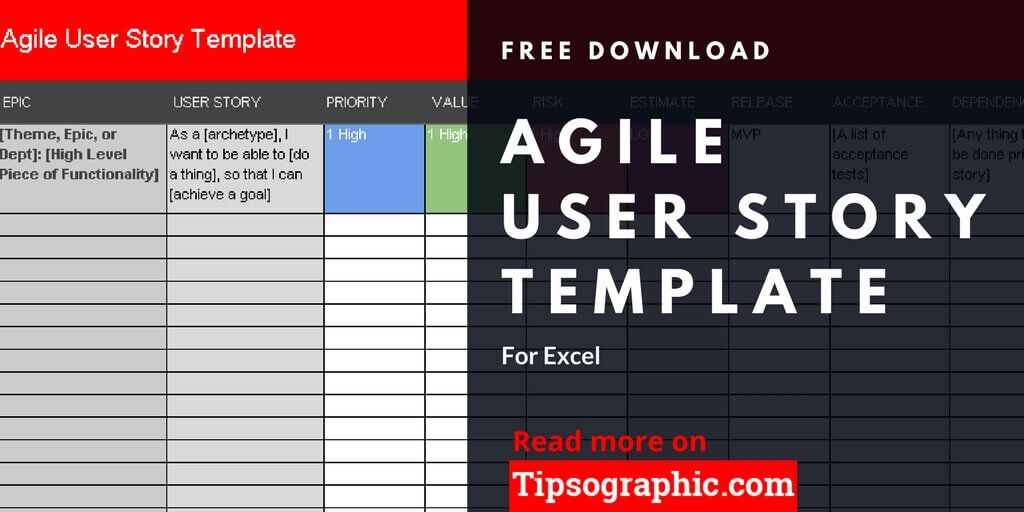 Agile User Story Template for Excel, Free Download Tipsographic - user story template