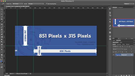 Facebook Cover Template Photoshop Document - Eric Renno