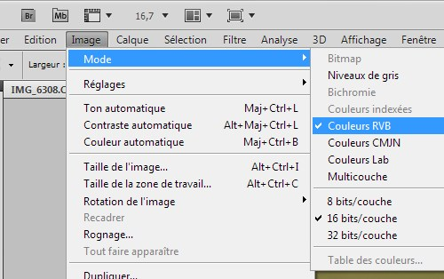Format de fichier avec Adobe Photoshop