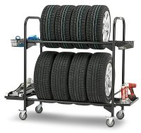 Tire Rack Rolling Tire Storage Rack