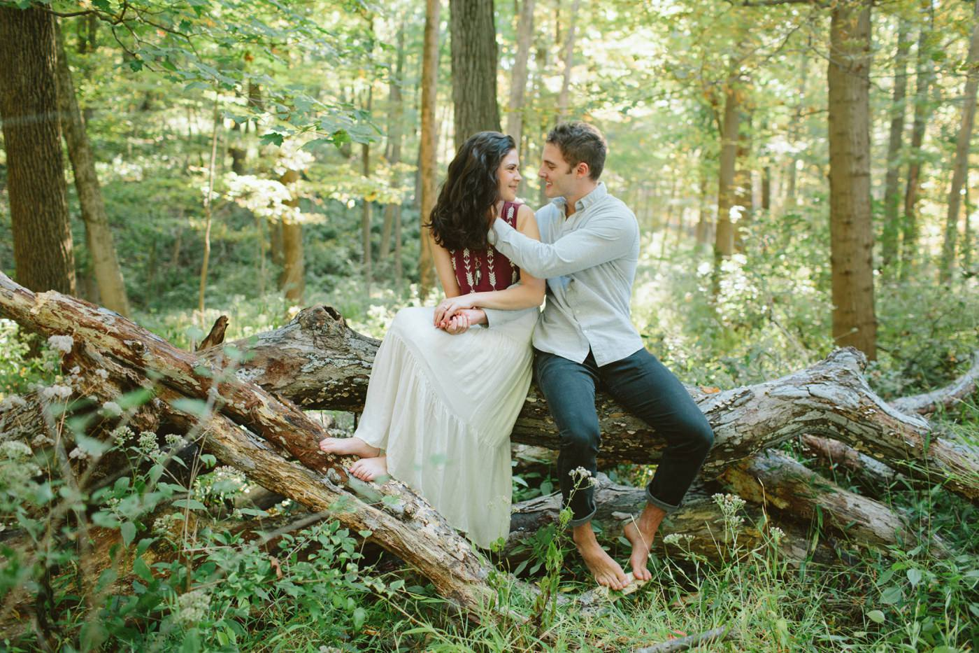 Tire Swing Photography | Cincinnati Ohio Woodland Forest Engagement session_0019
